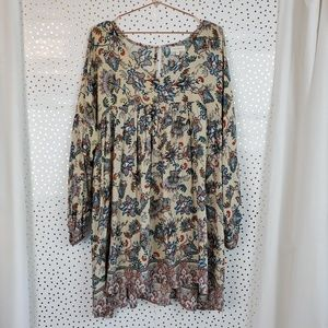 Velzera | Floral Long Sleeve Tunic/Dress | 2XL